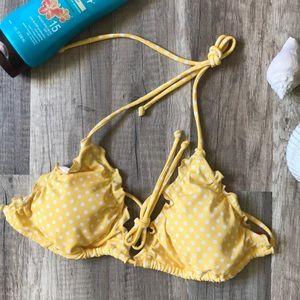 Victoria's Secret ruffle triangle bikini top